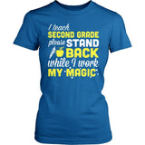 Second Grade - Magic - District Made Womens Shirt / Royal / S - 4