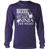 Second Grade - Ninja - District Long Sleeve / Purple / S - 11