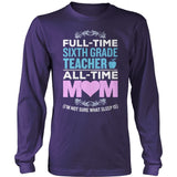 Sixth Grade - Full Time - District Long Sleeve / Purple / S - 11