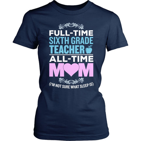 Sixth Grade - Full Time - District Made Womens Shirt / Navy / S - 1