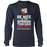 Spanish - Be Nice Holiday - District Long Sleeve / Navy / S - 2