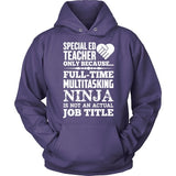 Special Education - Multitasking Ninja - Hoodie / Purple / S - 12