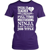 Special Education - Multitasking Ninja - District Made Womens Shirt / Purple / S - 2