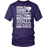 Special Education - Multitasking Ninja - District Unisex Shirt / Purple / S - 4