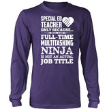Special Education - Multitasking Ninja - District Long Sleeve / Purple / S - 7