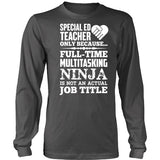 Special Education - Multitasking Ninja - District Long Sleeve / Charcoal / S - 8