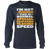Special Education - Normal Speed - District Long Sleeve / Navy / S - 10