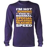 Special Education - Normal Speed - District Long Sleeve / Purple / S - 11