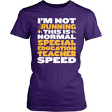 Special Education - Normal Speed - District Made Womens Shirt / Purple / S - 4