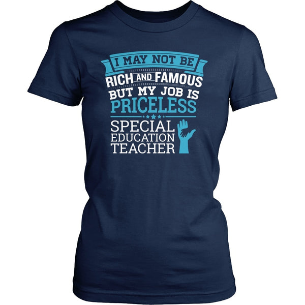 Special Education - Rich and Famous - District Made Womens Shirt / Navy / S - 1