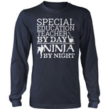 Special Education - Teacher By Day - District Long Sleeve / Navy / S - 11