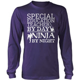 Special Education - Teacher By Day - District Long Sleeve / Purple / S - 12