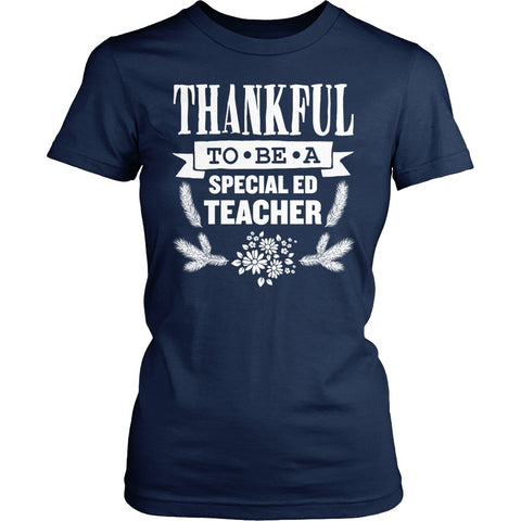 Special Education - Thankful - District Made Womens Shirt / Navy / S - 1
