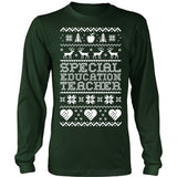 Special Education - Ugly Sweater - District Long Sleeve / Dark Green / S - 1
