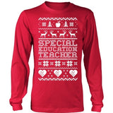 Special Education - Ugly Sweater - District Long Sleeve / Red / S - 2