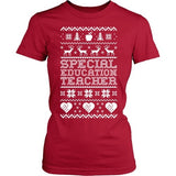 Special Education - Ugly Sweater - District Made Womens Shirt / Red / S - 3