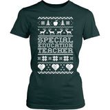 Special Education - Ugly Sweater - District Made Womens Shirt / Forest Green / S - 4