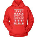 Special Education - Ugly Sweater - Hoodie / Red / S - 8