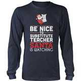 Substitute - Be Nice Holiday - District Long Sleeve / Navy / S - 2