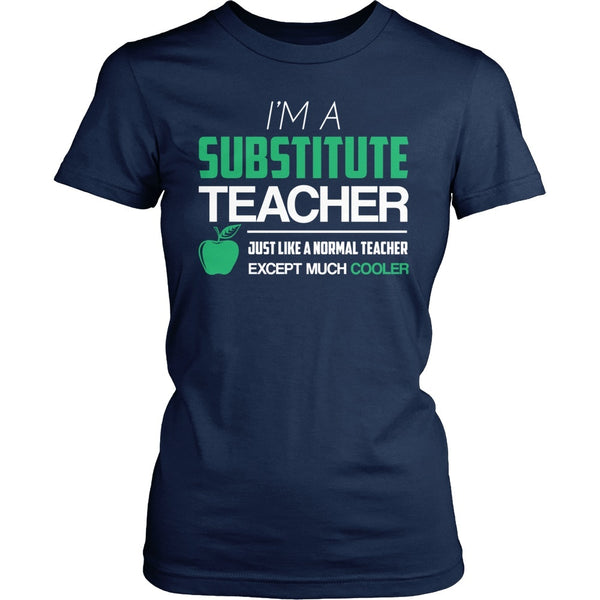 Substitute - Cooler - District Made Womens Shirt / Navy / S - 1