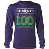 Teacher - 100th Day of School - District Long Sleeve / Purple / S - 11