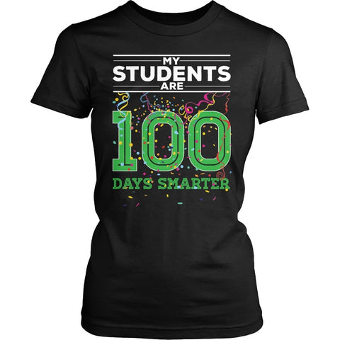 Teacher - 100th Day of School - District Made Womens Shirt / Black / S - 1