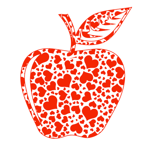 Teacher - Apple Hearts -  - 14