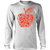Teacher - Apple Hearts - District Long Sleeve / White / S - 6