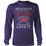 Teacher Assistant - Skilled Enough - District Long Sleeve / Purple / S - 11
