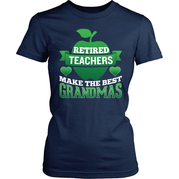 Teacher - Best Grandmas - District Made Womens Shirt / Navy / S - 1