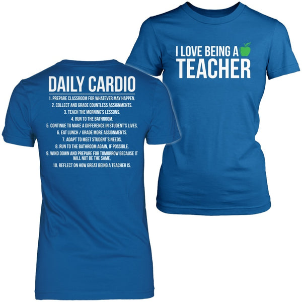 Teacher - Cardio - District Made Womens Shirt / Royal / S - 1