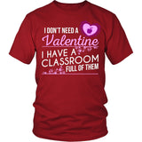 Teacher - Classroom Full of Valentines - District Unisex Shirt / Red / S - 2