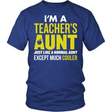Teacher - Cooler Aunt - District Unisex Shirt / Royal Blue / S - 2