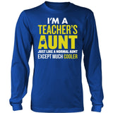 Teacher - Cooler Aunt - District Long Sleeve / Royal Blue / S - 5