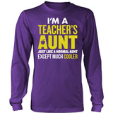 Teacher - Cooler Aunt - District Long Sleeve / Purple / S - 6