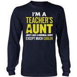 Teacher - Cooler Aunt - District Long Sleeve / Navy / S - 7