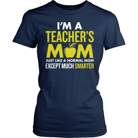 Teacher - Cooler Mom - District Made Womens Shirt / Navy / S - 1