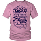 Teacher - Crazy Fantasy - District Unisex Shirt / Pink / S - 3