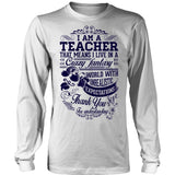 Teacher - Crazy Fantasy - District Long Sleeve / White / S - 4