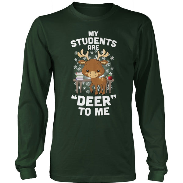 Teacher - Deer to Me - District Long Sleeve / Dark Green / S - 1