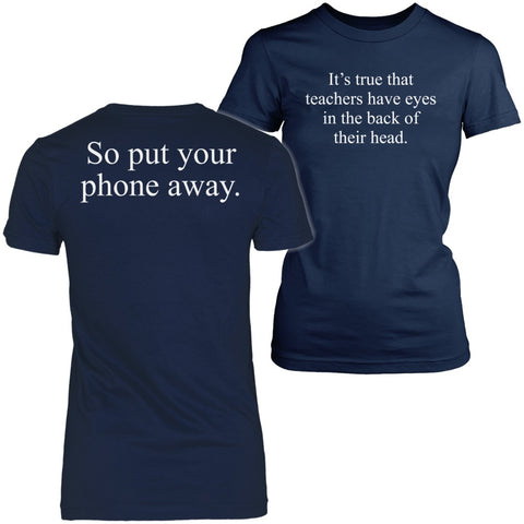 Teacher - Eyes - District Made Womens Shirt / Navy / S - 1