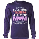 Teacher - Full Time - District Long Sleeve / Purple / S - 11