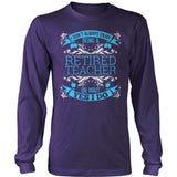 Teacher - I Don't Always - District Long Sleeve / Purple / S - 11