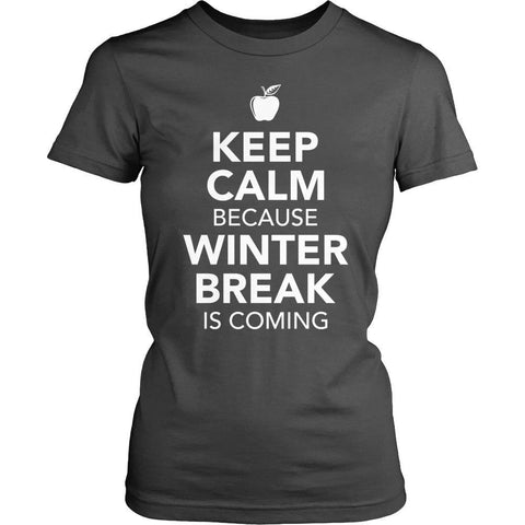 Teacher - Keep Calm - District Made Womens Shirt / Charcoal / S - 1