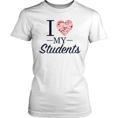 Teacher - Love My - District Made Womens Shirt / White / S - 1