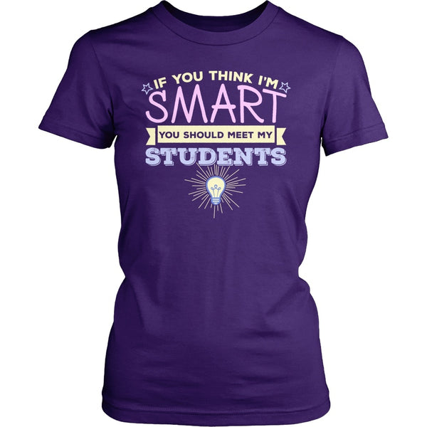 Teacher - My Students - District Made Womens Shirt / Purple / S - 1