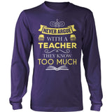 Teacher - Never Argue - District Long Sleeve / Purple / S - 11