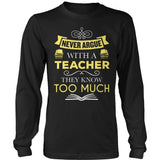 Teacher - Never Argue - District Long Sleeve / Black / S - 9