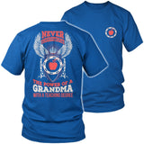 Teacher - Never Underestimate Grandma - District Unisex Shirt / Royal Blue / S - 8