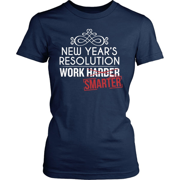 Teacher - New Year's Resolution - District Made Womens Shirt / Navy / S - 1